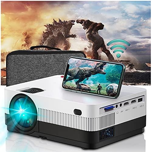 WiFi Beamer Full HD, Home Cinema Heimkino 6500 Lumen ,Mini Beamer Support 1080P Kompatibel mit...