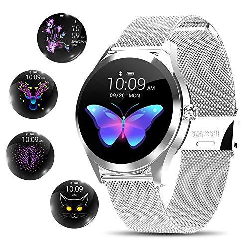 Smart Watch Damen,Yocuby elegant&stilvoll Smart Watch Bluetooth Fitness Tracker mit IP68...
