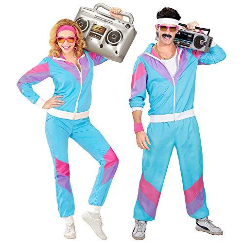 Widmann 98872 - Kostüm 80er Jahre Trainingsanzug, Jacke und Hose, angenehmer Tragekomfort, Assi...