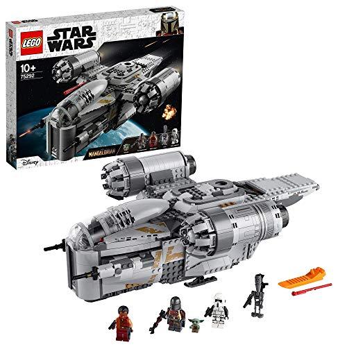 LEGO 75292 Star Wars The Mandalorian Kopfgeldjäger Transporter Raumschiff Spielzeug mit dem Kind...