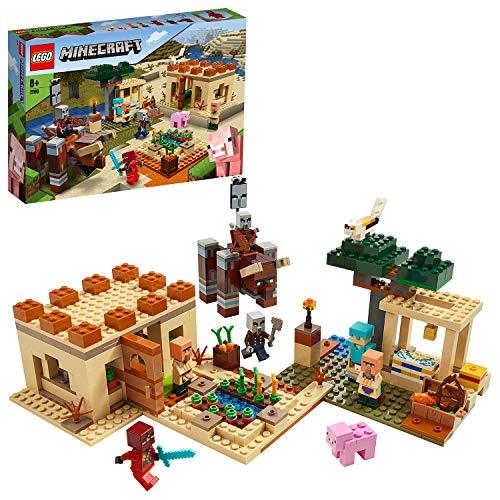 LEGO 21160 Minecraft Der Illager-Überfall Bauset mit Ravager und Kai, Abenteuerspielzeug für...