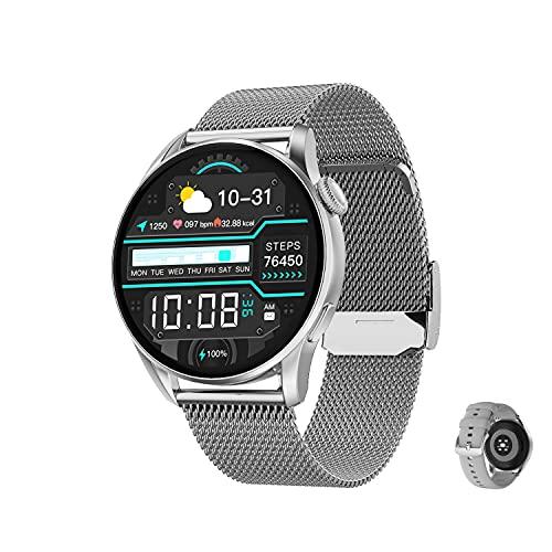 Aliwisdom Smartwatch DT 3 für Herren Damen, 1,36 Zoll HD Rund Bluetooth Anruf Smart Watch...