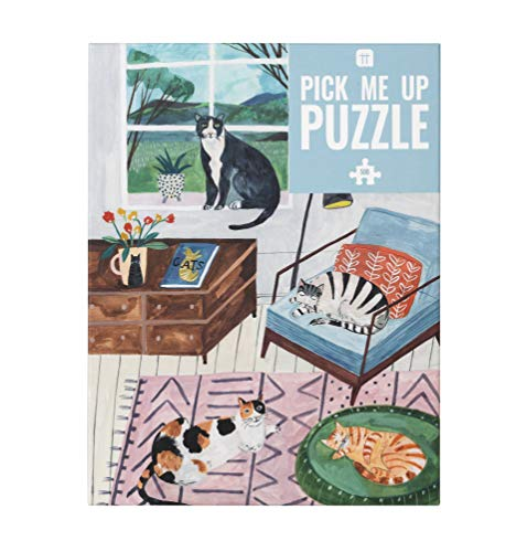 Talking Tables PUZZ-PMU-CAT 500-teiliges Katzenpuzzle & Poster   Illustrierte Haustiere, Tier  ...
