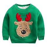 G-Kids Baby Jungen Weihnachtspullover Kinder Dick Warme Pullover Sweatshirt Weihnachtspullis...
