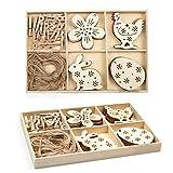 Wodasi Ostern Anhänger Holz, DIY Handwerk Holz Ostern, Ostern Handwerk Holz Ornamente, Hase Blumen...