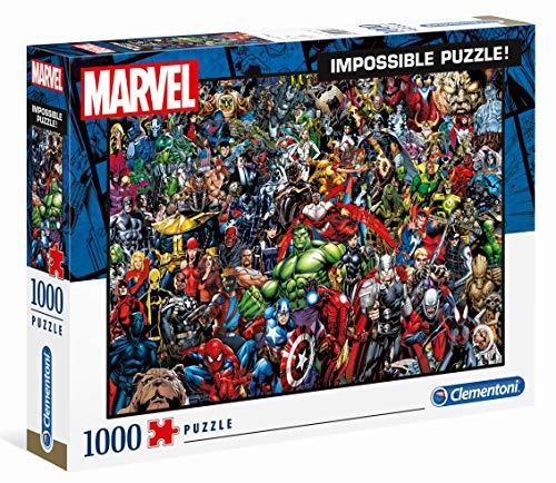 Clementoni 39411 Marvel Universe – 1000 Teile, Impossible Puzzle, Geschicklichkeitsspiel für die...