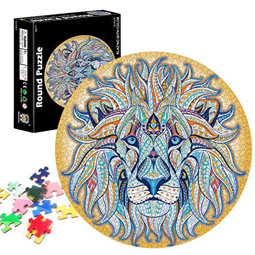 TaimeiMao Runde Puzzle 1000 Teile,Erwachsenenpuzzle,Puzzle Pädagogisches,Puzzle Kreative...