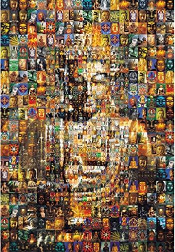 Kunyuancb Puzzlespiele für Erwachsene, 1000 Puzzleteile, bunter Buddha, handgefertigte...