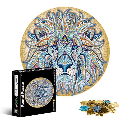Galatée hochauflösendes Klassische Runde Kreativität Puzzel 1000 Teile - Löwe (65cm) Erwachsene...