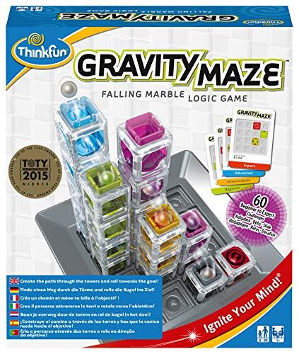 ThinkFun 76339 - Gravity Maze™ - Das herausfordernde Kugelbahn-Logikspiel