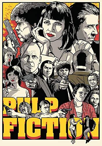 72Tdfc - 1000 Teile Erwachsenenpuzzle Holz Puzzle - Pulp Fiction Filmplakate - Teile...