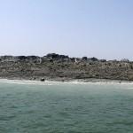 Potres v Pakistanu - novonastali otok.