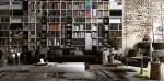 Dnevna soba in knjižnica