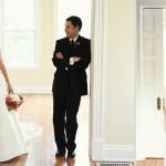 Ben in mala Olivia sta poustvarila poročne fotografije v novem domu iz leta 2009.