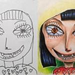 Happy girl je edina slika, ki ''naročniku'' ni bila po godu. Hči je namreč protestirala, da dekle na fotografiji zagotovo ni imela mišljenega rdečega puloverja.