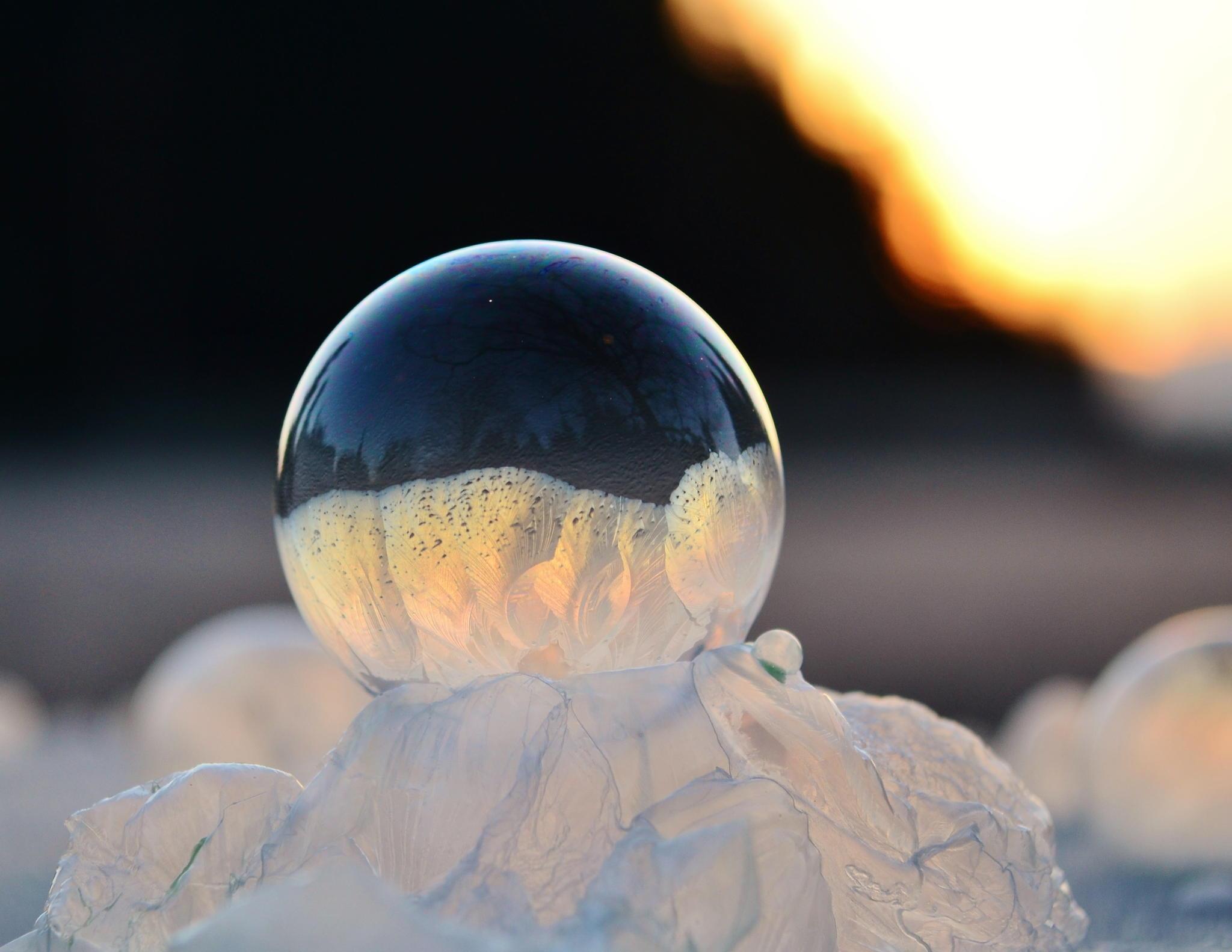 Zmrznjeni milni mehurčki