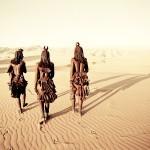 Vsakodnevni sprehod po idilični puščavi.