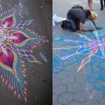 Ulična umetnost iz barvnega peska