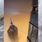 Neustrašna Vladim Makhorov in Vitality Raskalov sta splezala na drugo najvišjo stavbo na svetu in pri tem posnela nekaj osupljivih fotografij.