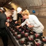 Priprava jedi v podzemnem delu muzeja