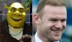 15. Shrek in Wayne Rooney.