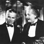 Charlie Chaplin in Albert Einstein.
