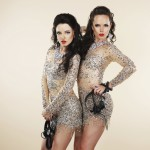 Amusement. Two Showgirls with Headphones - Nightlife