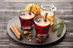 Christmas mulled wine with spices and honey