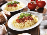 italian food - spaghetti with tomato sauce