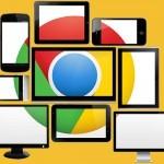 Google Chrome je možno uporabljati na različnih napravah.