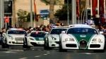 Dubajska policija in njeni luksuzni avtomobili.