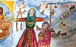 Ilustratorka, Valentina Taksheieva: Čučelo Zime, ki ga bodo sežgali.