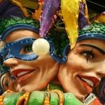Zelena, zlata in vijolična so tipične barve Mardi Grasa v New Orleansu.