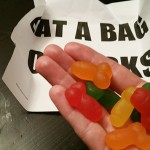 Gumijasti falični bonboni izpod prstov Dicks by Mail.