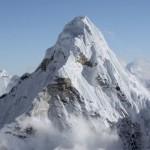 Mount Everest iz helikopterja.