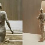 Presenetljivo realistični leseni kipi