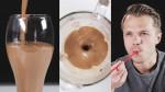 Kava s sendvič sladoledom.