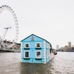 Plavajoča hiša sredi reke Temze !
