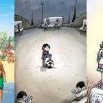 Ilustracije, ki slikajo našo odvisnost od pametnih telefonov