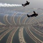 Sapojemajoč polet z jetpackom nad Dubajem