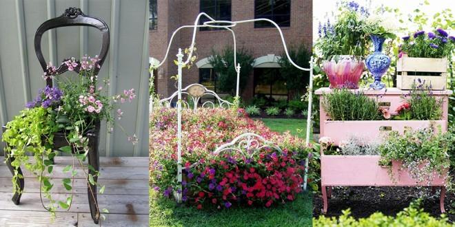 Ponovna oživitev odsluženega pohištva kot dekoracija za vrt  CityMagazine