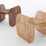 Stol iz bambusa Bow Tie Chair