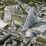 Nebotičnik Tour Triangle bo postal nova mestna dominanta.