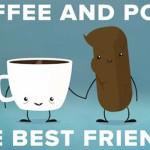 Kava in kakec gresta z roko v roki.