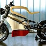 Električno kolo e-raw z dotikom lesa