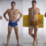100 let moške kopalne mode.