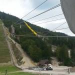 Zip Line nad planiško skakalnico.