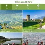 Mobilna aplikacija Hiking and Biking in Slovenia