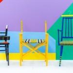 Barviti stoli oblikovalca Yinka Ilori