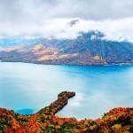 Gora Nantai in jezero Chuzenji, Nikko (Japanska)